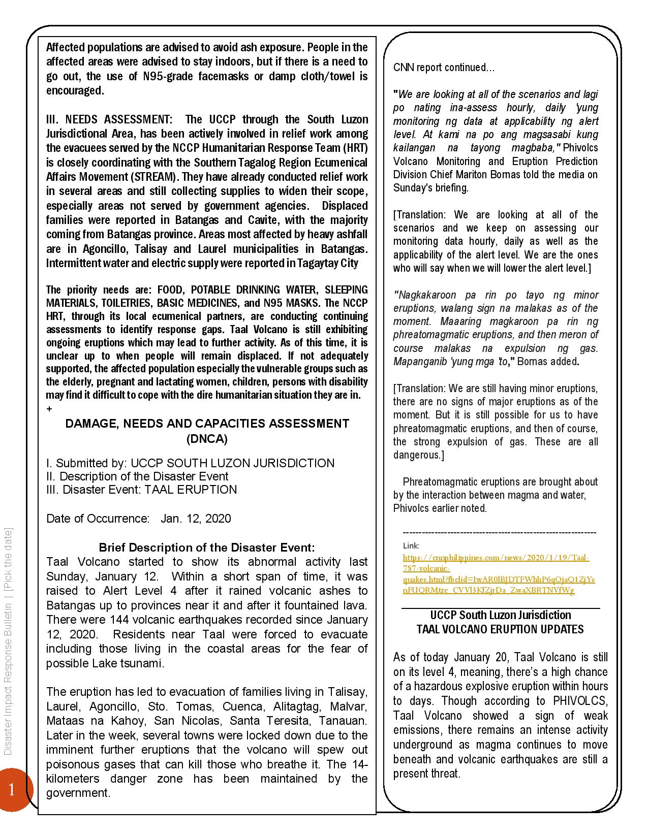 2020-Disaster-Impact-Response-Bulletin -TAAL VOLCANO ERUPTION-Edited-page-002